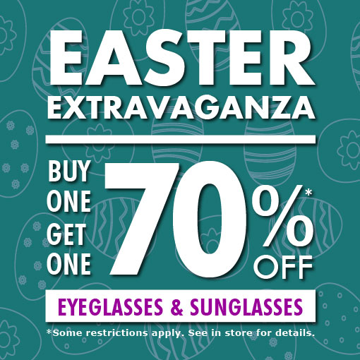 Easter Extravaganza - Buy One, Get One 70% Off at Luxury Eyewear
